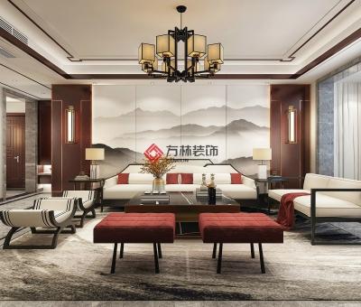 朝阳中贸府邸-四室两厅-新中式-朝阳装修公司